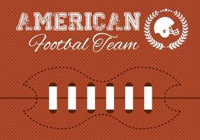Kostenloser amerikanischer Fußballvektor vektor