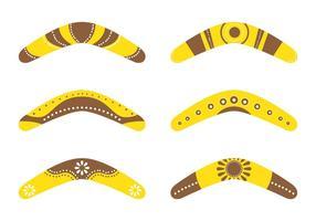 Boomerang samlingar vektor