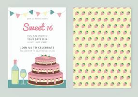 Vector Sweet 16 Karte