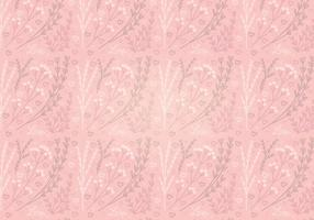 Vector Pink Heart Floral Seamless Pattern