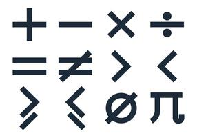 Grundlegende Mathe Symbole Vektoren