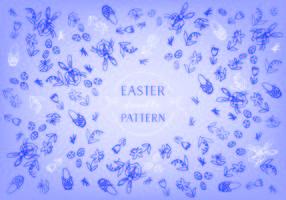 Free Ostern Doodle Hintergrund Vektor
