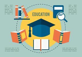 Gratis platt utbildningssamling vektor