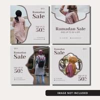 ramadan försäljning sociala medier post set