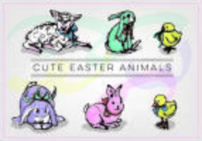 Vektor Kostenlose Ostern Tiere