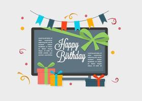 Gratis grattis på födelsedagen vektor bakgrund