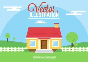Gratis vektor hus illustration
