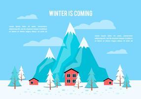 Gratis platt vinter vektor bakgrund