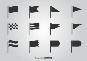 Flagga vektor ikonuppsättning