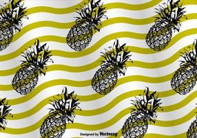 Ananas Muster Hintergrund Vektor