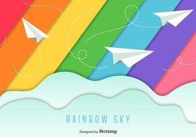 Pappersplan himmel bakgrund vektor