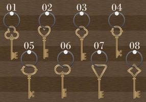 Hölzerner antiker Schlüsselhalter-Vektor vektor