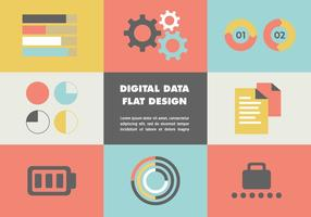 Flat Digital Data Vector Hintergrund