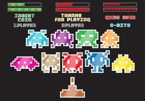 Retro Alien Spiel Vektoren