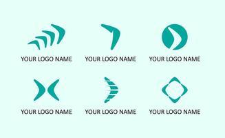 Bumerang Logo Sammlungen vektor