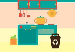 Freie Küche Vektor-Illustration vektor