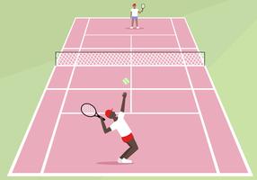 Gratis Tennis Court Vector