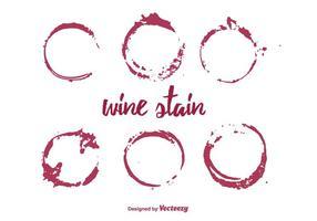 Vektor uppsättning vinfläck