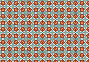 Blom mosaik mönster vektor