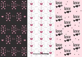 Valentinstag Muster Vektoren