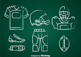 Fußball-Set Chalk Draw Set Vektor