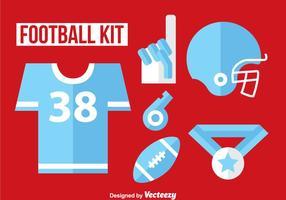 Fußball-Set Flach Icon Vektor