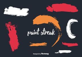 Paint Streak Vektor Sammlung