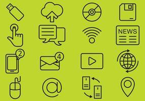 Teknik ikoner vektor