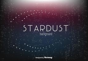 Zusammenfassung Stardust Vektor Hintergrund