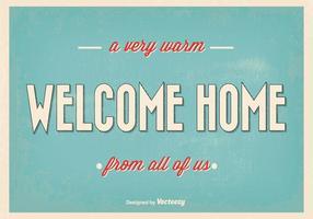 Retro Willkommen Home Vektor-Illustration