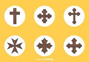 Freie hölzerne Kreuze Vektor