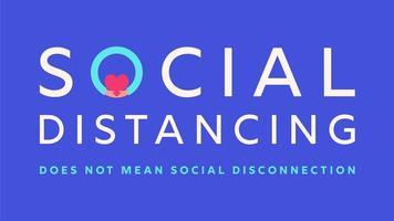 sozial distanzierende Typografie Motivationsbanner vektor