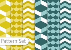 Geometrisches Dekoratives Muster Set vektor