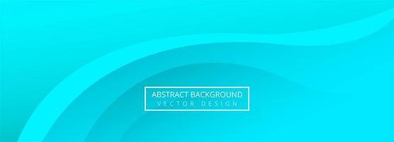 modernes blaues Wellenbanner vektor