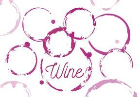 Vektor uppsättning vin fläckar