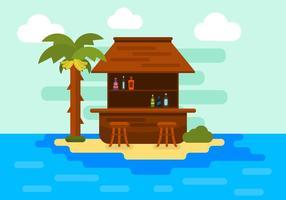 Illustration einer Insel in Vektor