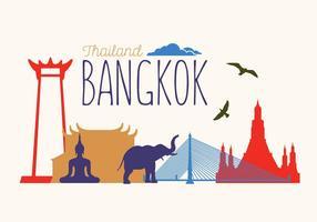 Vektor illustration av Bangkok