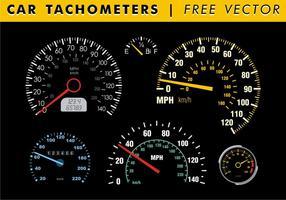 Bil Tachometers Gratis Vector