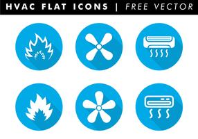 Hvac platt ikoner fri vektor