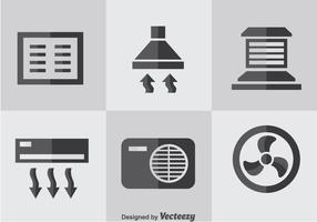 Hvac Flat Icons Vektor