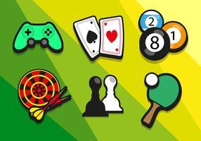 Spiel Bunte Illustrationen Vektor