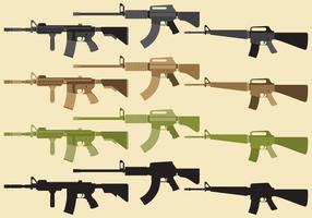 Militärwaffenvektoren vektor