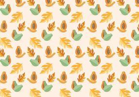 Papaya-Vektor-Muster