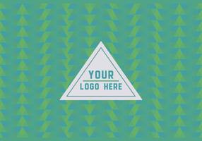 Free Green Geometric Logo Hintergrund vektor
