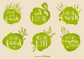 Gesunde Lebensmittel Vektor Zeichen