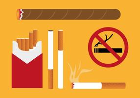 Cigarettpaket Illustrationer Vektor