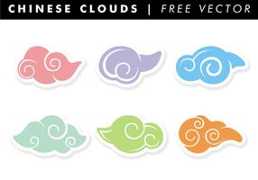 Chinesische Wolken Free Vector