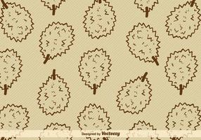 Durian frukt vektor bakgrund
