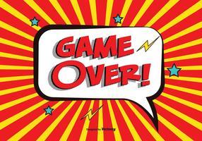 Comic Game Över Vektor Illustration