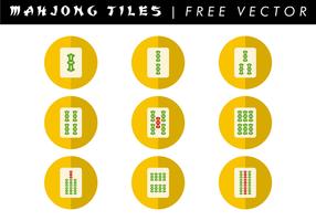 Mahjong Fliesen Free Vector